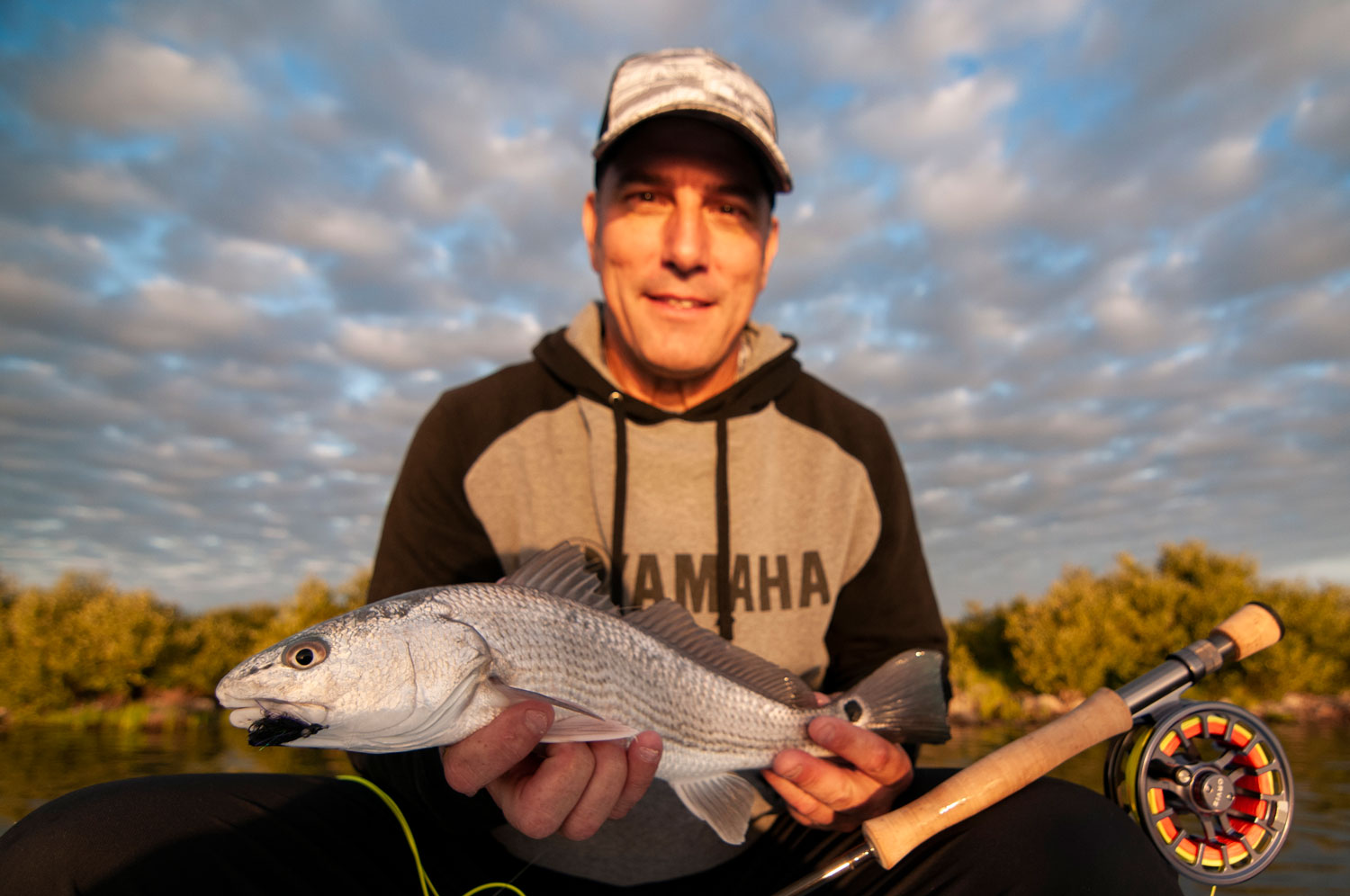 First Mosquito Lagoon Redfish on Fly
